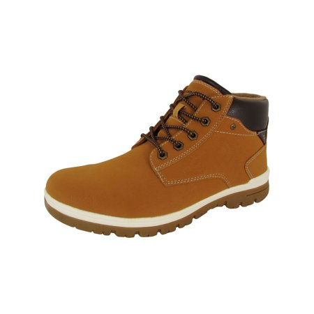 Day Five  Mens Casual Lace Up Ankle Work Boot Shoes, Yellow