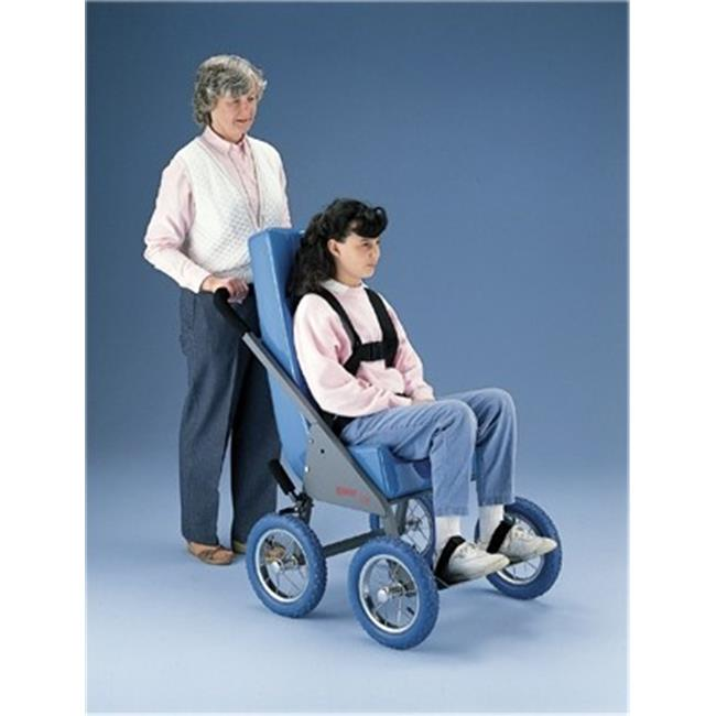 Fabrication Enterprises 30-3523B Rover Stroller with Feeder Seat, Small Adult, Blue - Extra Large