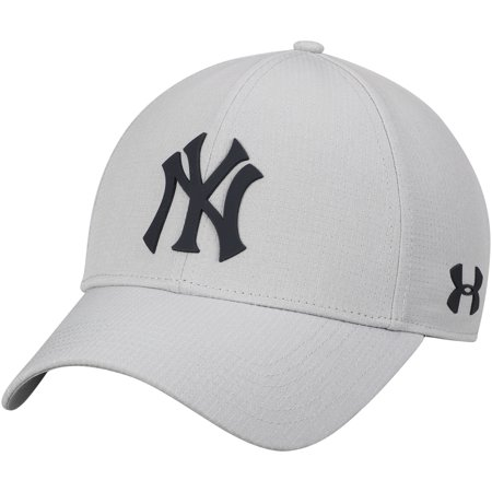 New York Yankees Under Armour MLB Driver Cap 2.0 Adjustable Hat - Gray -  OSFA a3f93d18b6c