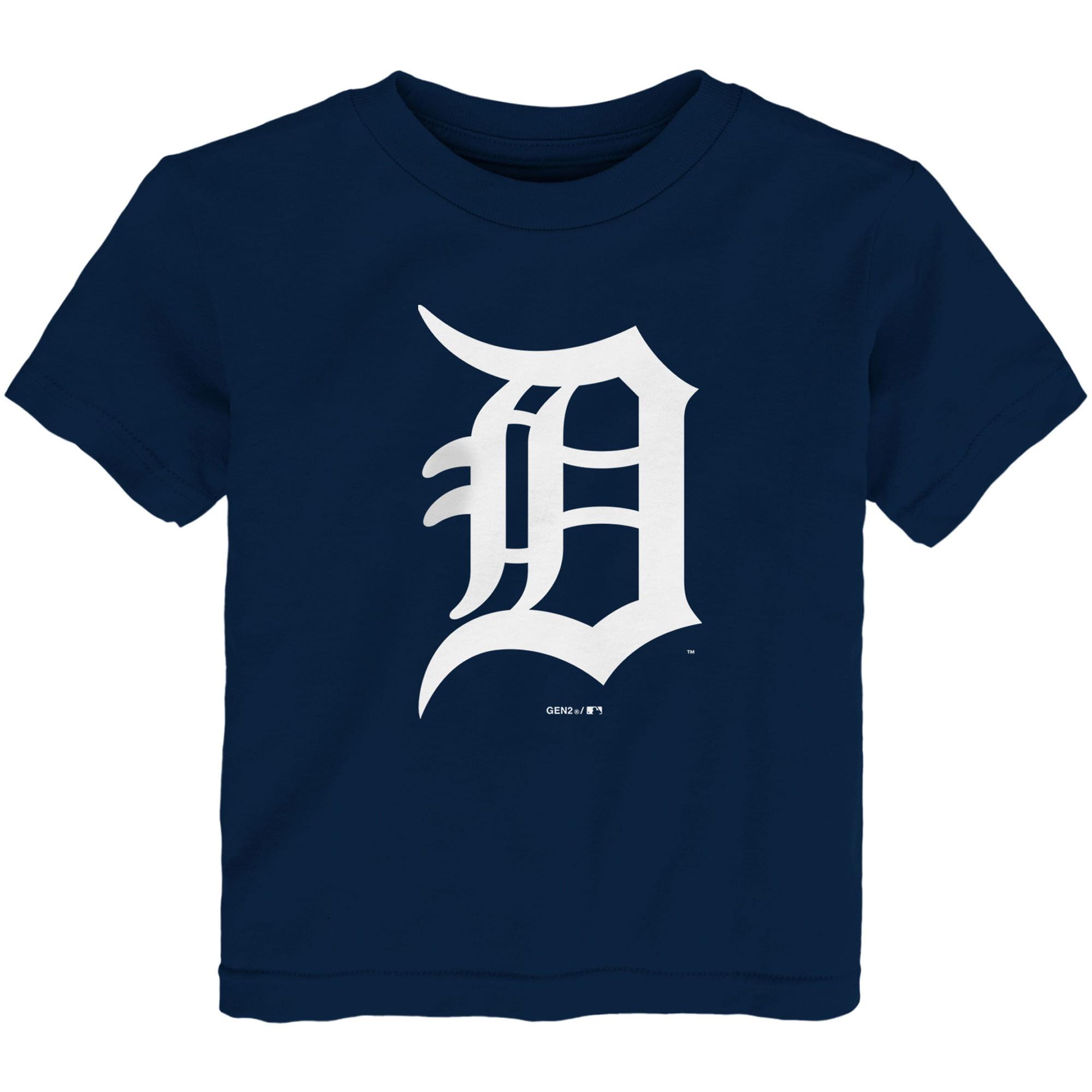 Detroit Tigers Toddler Team Primary Logo T-Shirt - Navy