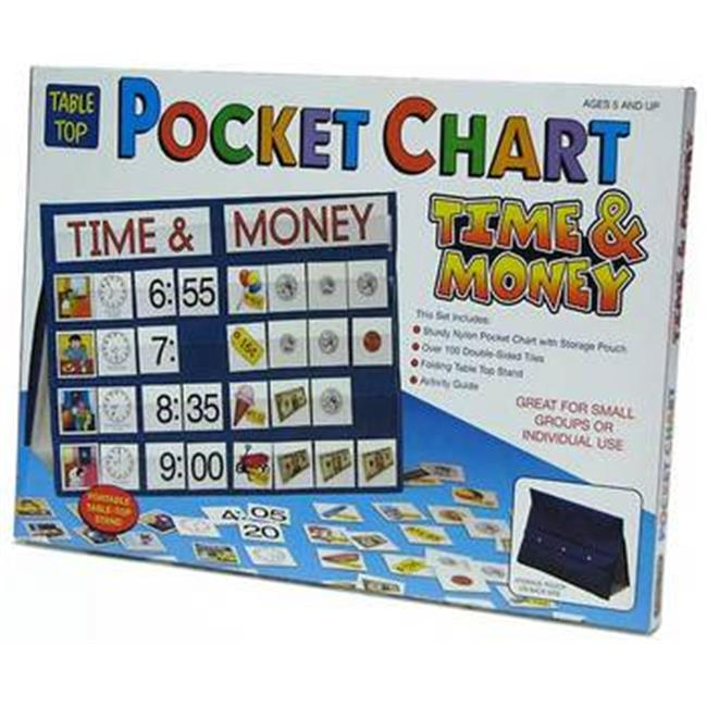 Patch Products 779 Tabletop Pocket Chart - Time & Money
