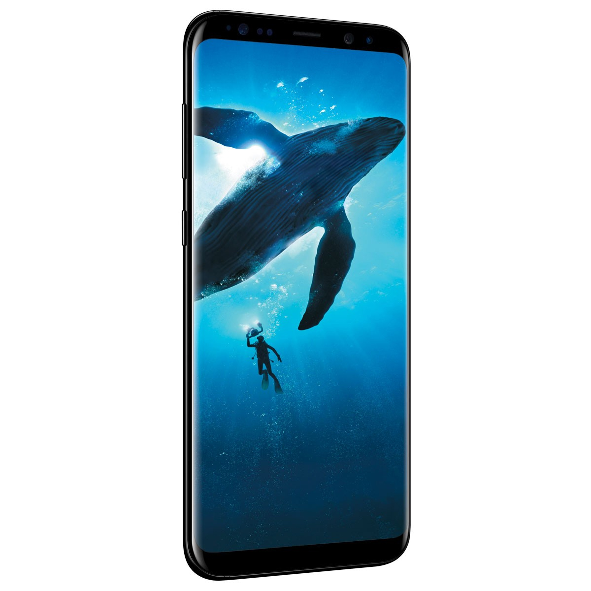 "New Galaxy S8+ Plus 64GB G955UZKV Verizon 4G LTE 6.2"" Super AMOLED 4GB RAM 12MP Camera by Samsung Smartphone - Midnight Black"