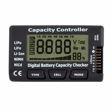 Lipo Cell Voltage (ESYNIC  LCD Battery Capacity Voltage Checker Controller Tester Digital Battery Capacity Checker for Lipo LiFe Li-ion NiMH NiCd Battery )