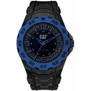 Men's CAT Caterpillar Motion Black And Blue Rubber Strap Watch LB16121136