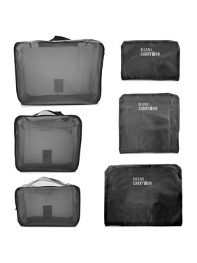 Product Image Set of 6 Packing Cubes, Travel Luggage Organizer - 3 Travel Cubes + 3 Pouches