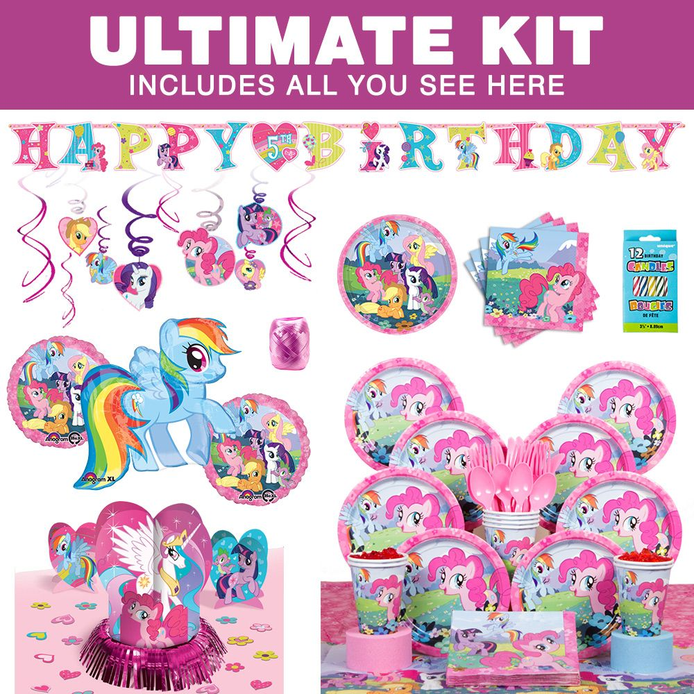 My Little Pony Ultimate Kit (Serves 8) - Party Supplies