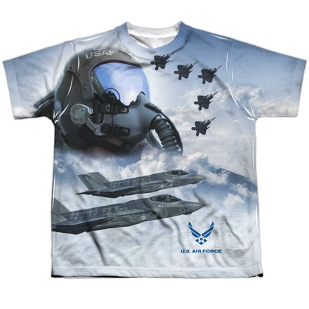 air force pilot big boys sublimation shirt white lg