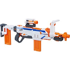 The Over/Under Double Shot Dart Blaster is an easy loading double barrel  blaster.