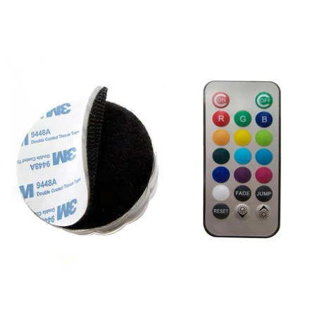 GlowCity Multi Colored Velcro Remote Controlled Waterproof LED Pod Light - Multi Colored Leds