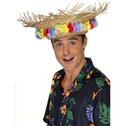 """40"""" Red and Yellow Beach Unisex Adult Hat Halloween Costume Accessory - One Size"""