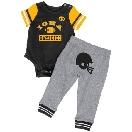 - Iowa Hawkeyes Colosseum Infant Boys MVP One Piece Outfit and Sweatpants Set