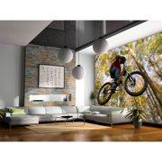 """Startonight Mural Wall Art Bike Jump  Illuminated Sports Wallpaper Photo 5 Stars Gift Large 10 x 28,82 '' x 50,4 '' Total 8'4""""x 12'"""