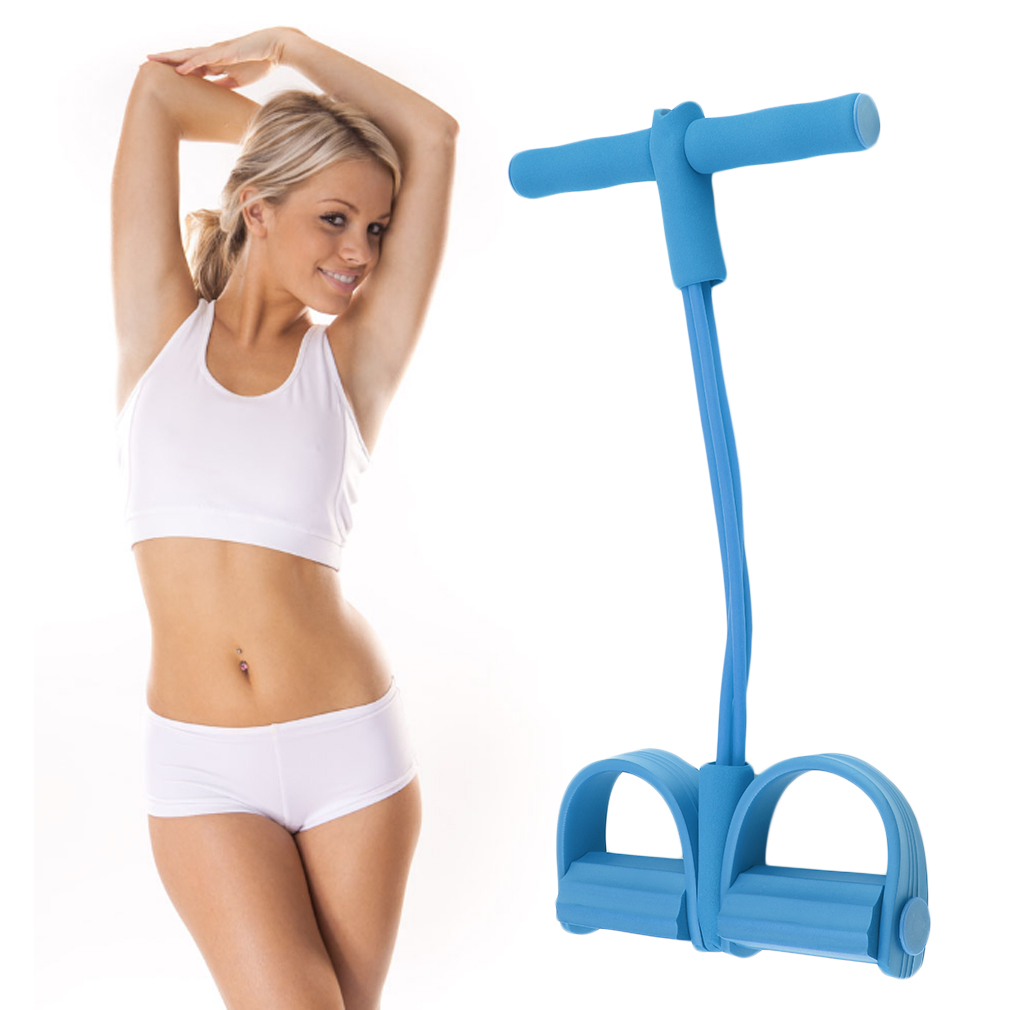 Four Elastic Band Fitness Resistance Exercise Equipment for Yoga Workout