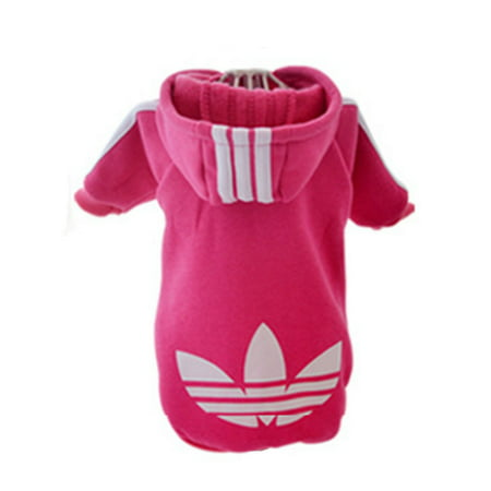 - Pet Puppy Dog Cat Coat Clothes Hoodie Sweater Costumes Pink L