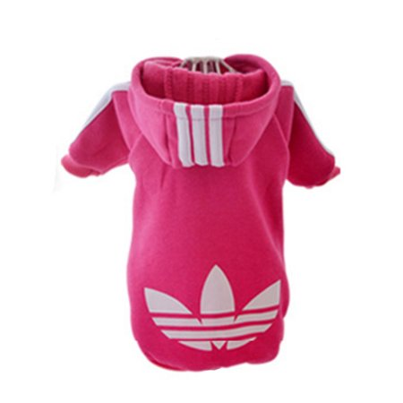 Pet Puppy Dog Cat Coat Clothes Hoodie Sweater Costumes Pink - Bear Costumes For Dogs