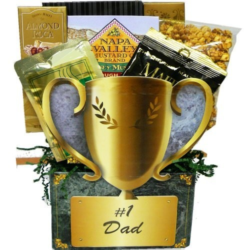 No.1 Dad Trophy Gift Box of Snacks and Treats