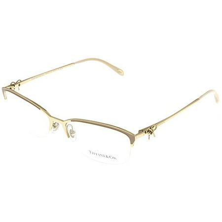 8a2c62293ee Tiffany   Co. Womens Eyeglasses Designer Gold Semi Rimless TF1102 6021  Size  Lens  Bridge  Temple  55-16-140 - Walmart.com