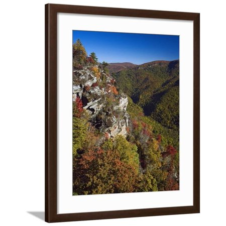 Early Autumn View of Linville Gorge Framed Print Wall Art By Adam
