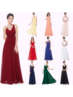 6224d614857c Product Image Ever-Pretty Women s Sexy Chiffon V Neck Long Maxi Evening  Wedding Party Bridesmaid Dresses for