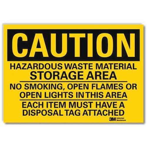 LYLE Safety Sign,Hazardous Waste Storage,5inH, U4-1381-RD_7X5