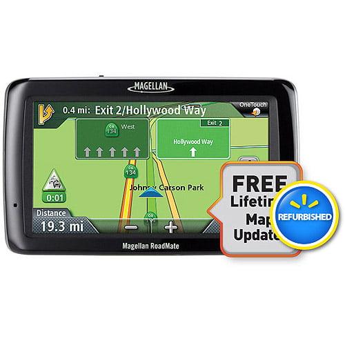 "Magellan RoadMate 5045LM 5"" GPS w/ Lifetime Traffic and AAA Tourbook, Refurbished"