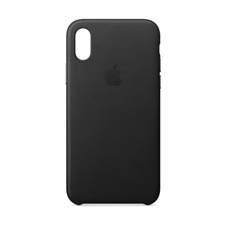 Apple Leather Case for iPhone X - Black (Price/1 Case)