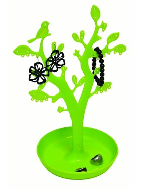 EVE Bath Tree Shape Jewelry Storage Organizer and Holder Color: Blue