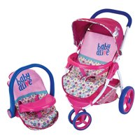 Baby Alive Pretend Play Baby Doll Travel System with Stroller & Car Seat