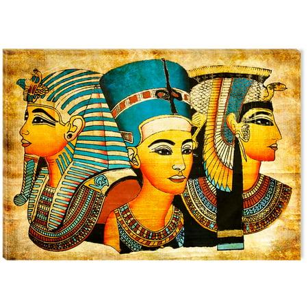 Art For Africa - Startonight Canvas Wall Art  Egyptian Goddesses USA Design for Home Decor, Illuminated African Painting Modern Canvas Artwork Framed Ready to Hang Medium 23.62 X 35.43 inch