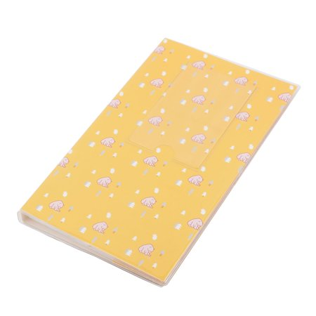 Graduation Birthday Plastic Bear Pattern Photo Picture Holder Album Yellow - Graduation Album