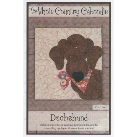 Kit~Dachshund~Pre-Cut Applique Kit with Fabric by Whole Country (Fabric Applique Kit)