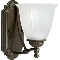 Progress Lighting P3016 Renovations Single-Light Bathroom Sconce with Etched Rib