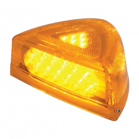 37 LED Peterbilt Turn Signal Light w/ Chrome Base - Amber LED/Amber (Amber Chrome Base)
