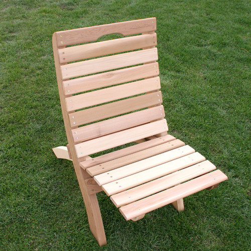 Creekvine Designs Cedar Furniture and Accessories Traveling Style Folding Beach Chair