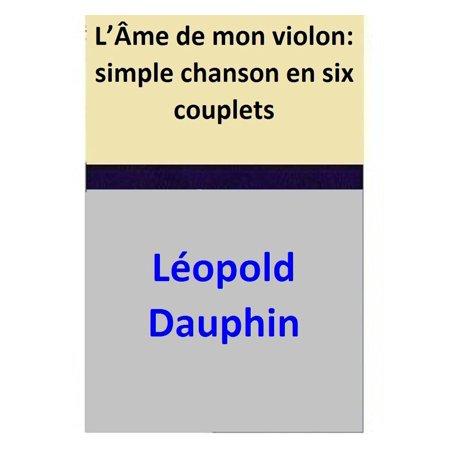 L'Âme de mon violon: simple chanson en six couplets - eBook](Chansons Halloween En Francais)