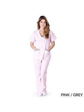 e12a4fedc19 Product Image Natural Uniforms Women's Contrast Jersey Scrub Set, Style 1077