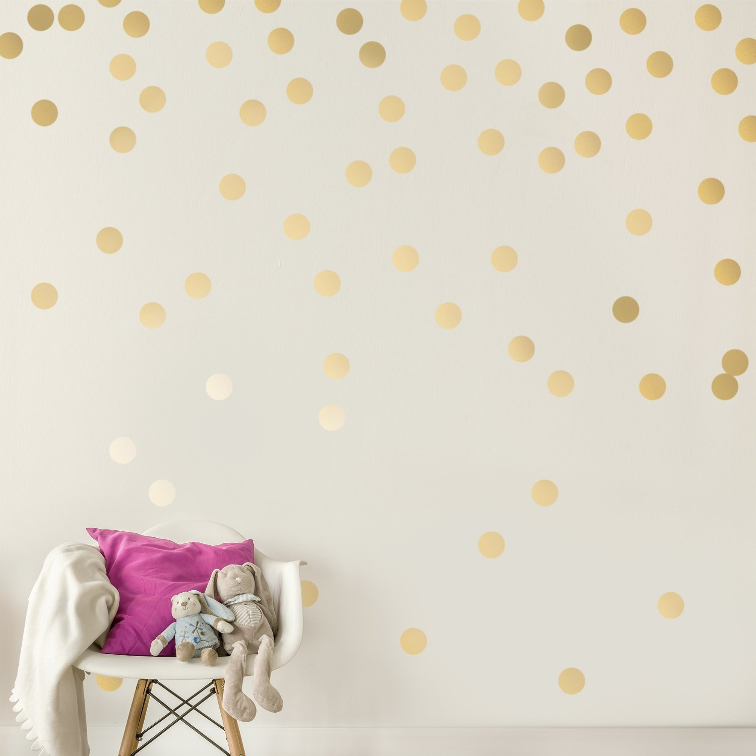 Gold Wall Decals (200 Decals) Wall Decor by
