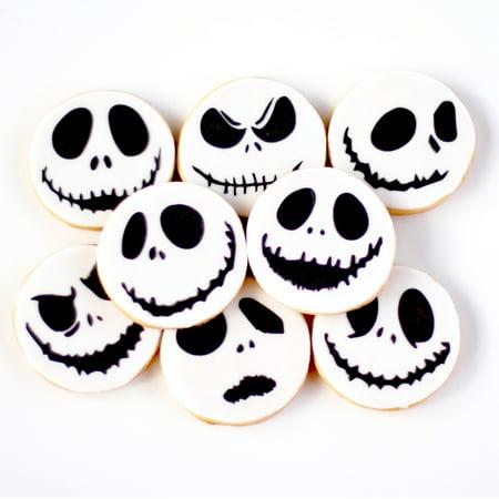 1 Dz. Mini Skellington Face (Jack) GIFT BOXED Cookies! The MINI Pumpkin King of Halloween Town!