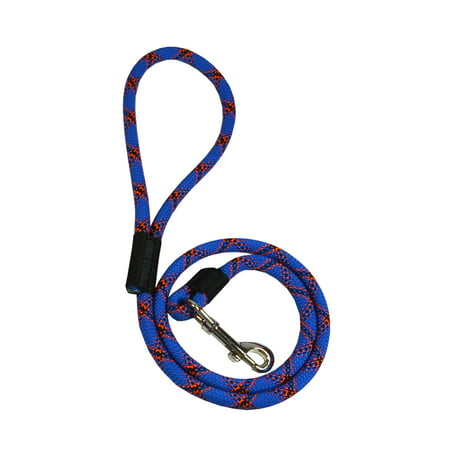 Extremely Durable Dog Rope Leash, Puppy Lead (Blue, 3 feet), By Downtown Pet Supply