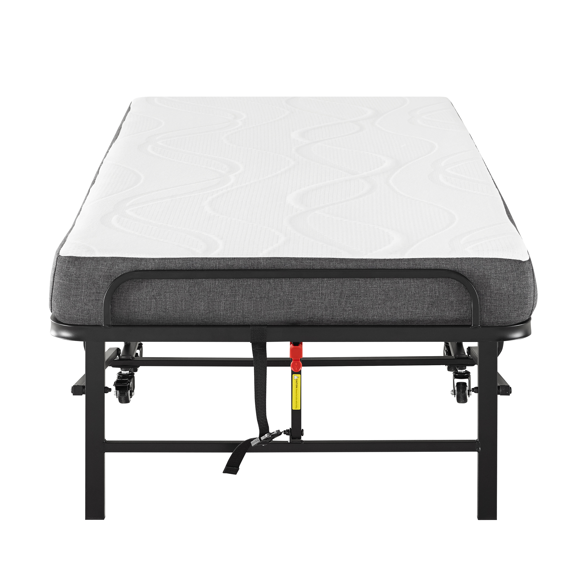 Modern Sleep Folding Rollaway Bed With 4 Inch Memory Foam Mattress Cot Walmart Com Walmart Com