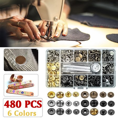 - Set of Vintage Antique Bronze Stud Metal Snap Press Buttons Sew Fasteners 12.5mm