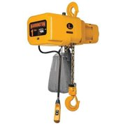 HARRINGTON NERP010L-15 Electric Chain Hoist, 2000 lb., 15 ft., Push Trolley,
