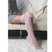 Women Soft Over Knee Extra Long Boot Knit Socks Thigh High Warm Stocking Knee Socks