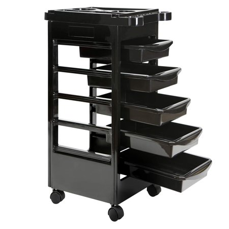 Saloniture Beauty Salon Rolling Trolley Cart With 5