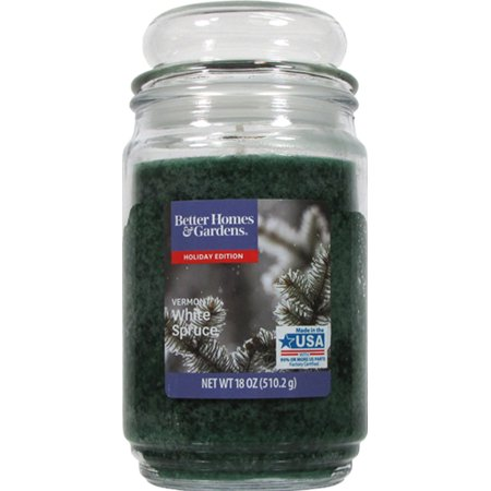 Better Homes & Gardens 18oz Vermont White Spruce jar candle with bubble lid](Garden In A Jar)