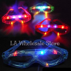 LA Wholesale Store 12 Flashing Eyeglasses FREE Temporary Body Tattoo!