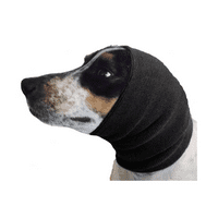 2 Pack Gentle Compression Dog Ear Band Calm Pet Anxiety Stress During Grooming (Black)