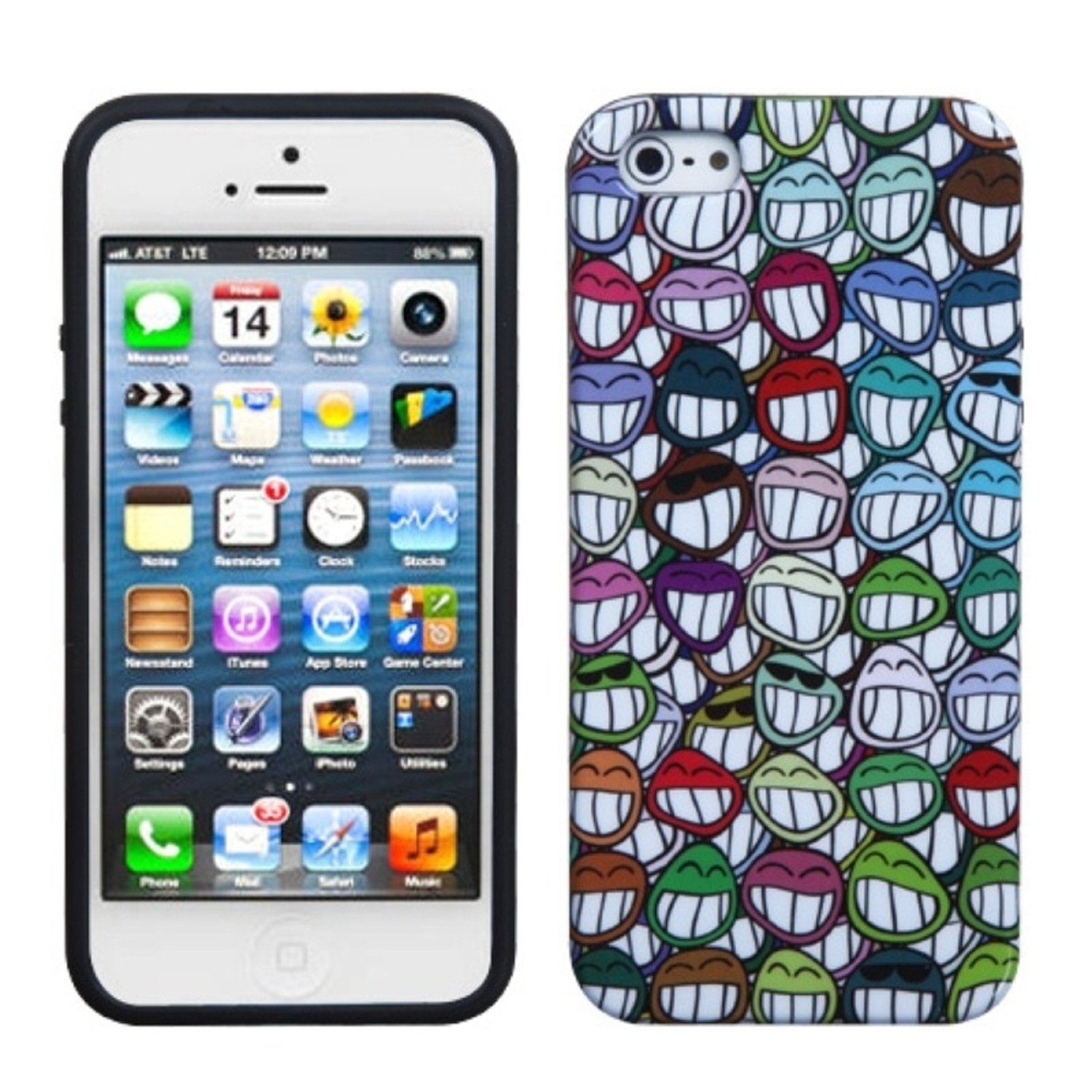 Insten All Smiles Candy Skin Case For APPLE iPhone SE 5
