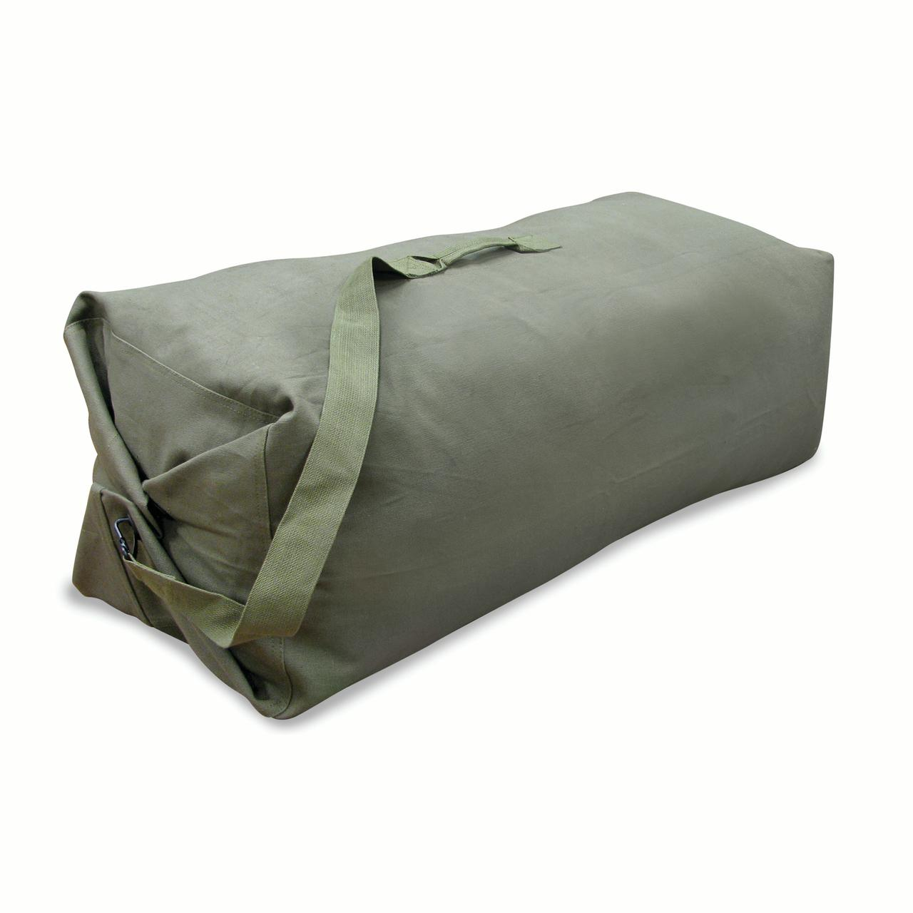 """Stansport Duffel Bag with Strap - O.D. - 42"""" x 12"""" x 12"""