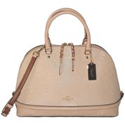 coach sierra dome satchel in signature debossed patent leather f55449 platinum by